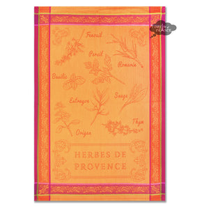 Herbes de Provence French Jacquard Kitchen Towel by Autrefois