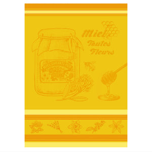 Honey French Jacquard Kitchen Towel by Autrefois