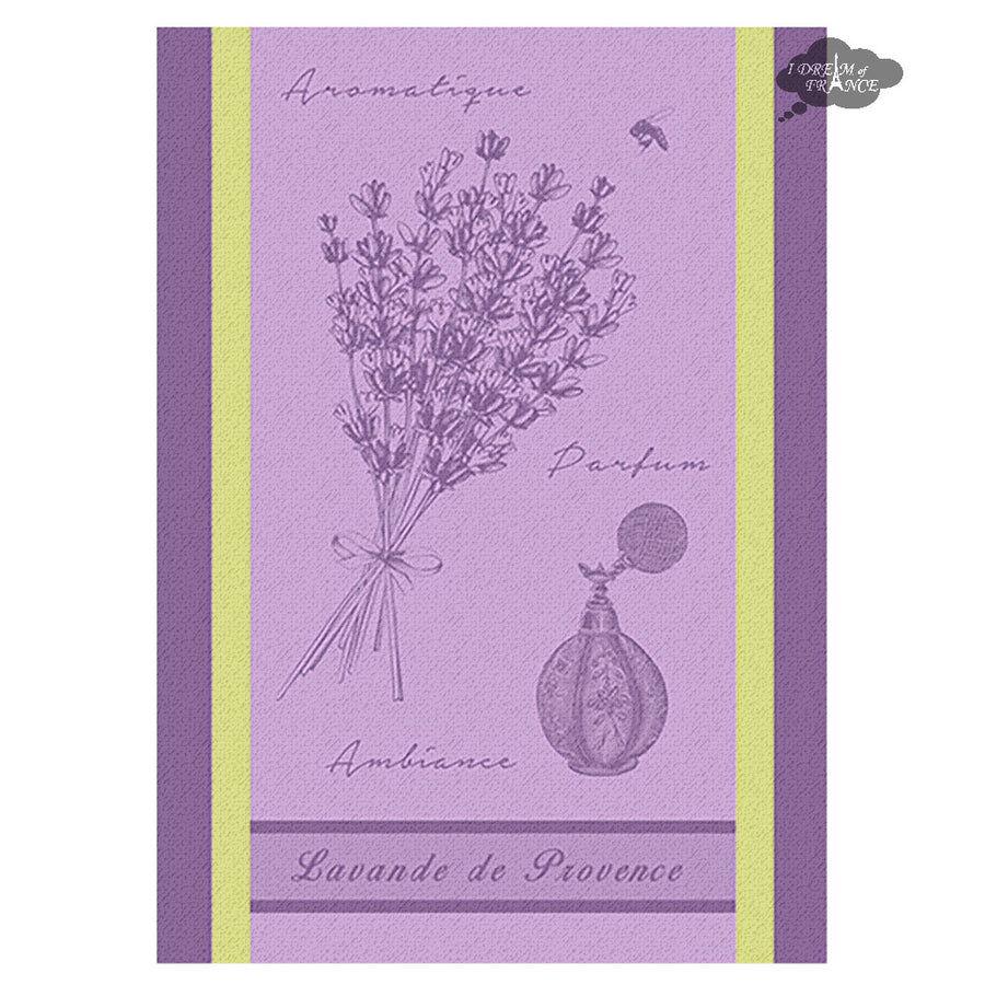 Provence Lavender French Jacquard Kitchen Towel by Autrefois