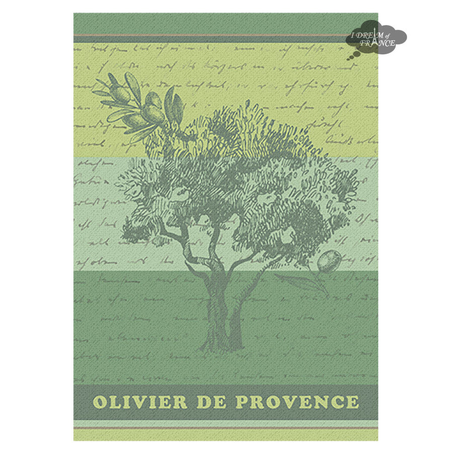 Olivier de Provence French Jacquard Kitchen Towel by Autrefois