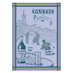 Pastis de Marseille French Jacquard Kitchen Towel by Autrefois