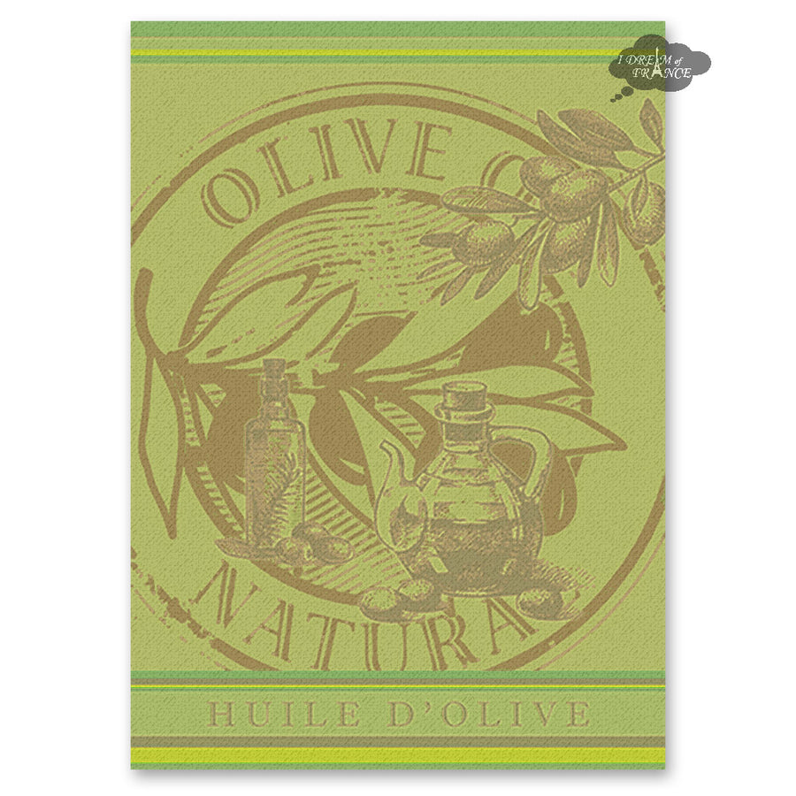 Olive Oil French Jacquard Kitchen Towel by Autrefois
