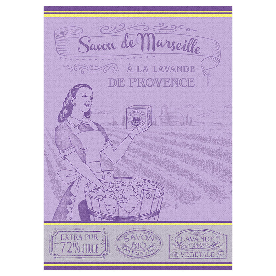 Savon de Marseille French Jacquard Kitchen Towel by Autrefois
