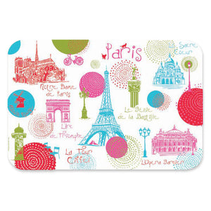 Paris Monuments Soft Plastic Placemats by Ça et Là