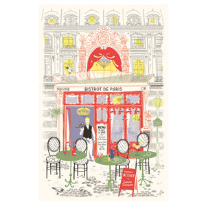 French Bistro Tea Towel by Torchons et Bouchons