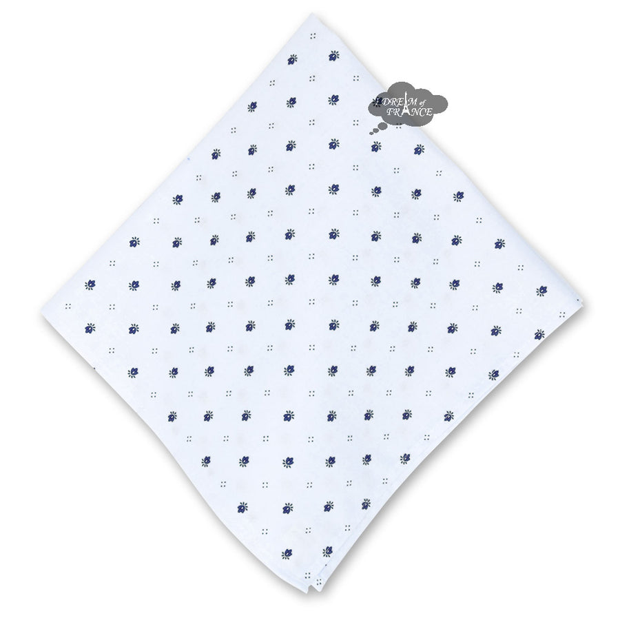 Calisson White Provence Cotton Napkin by Tissus Toselli