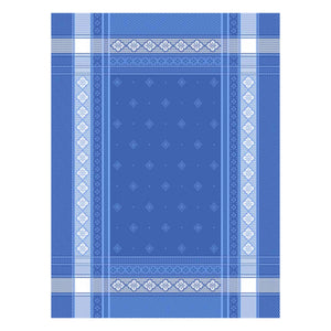 Callas Blue Cotton French Jacquard Dish Towel