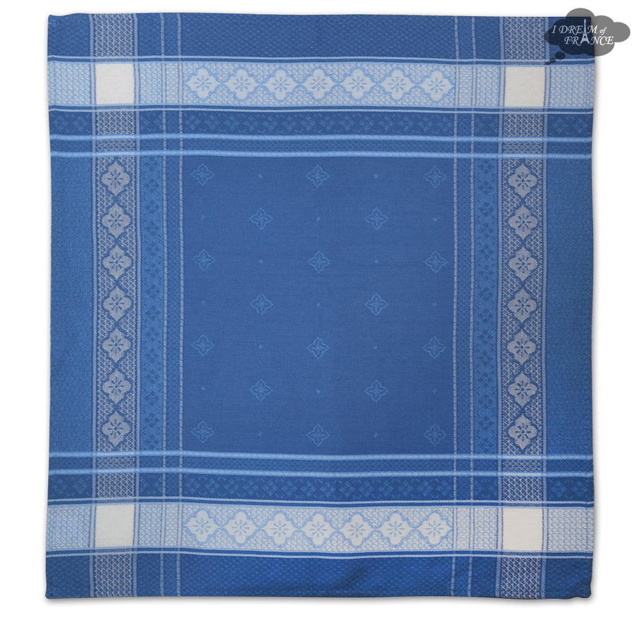 Callas Blue French Cotton Jacquard Napkin by L'Ensoleillade