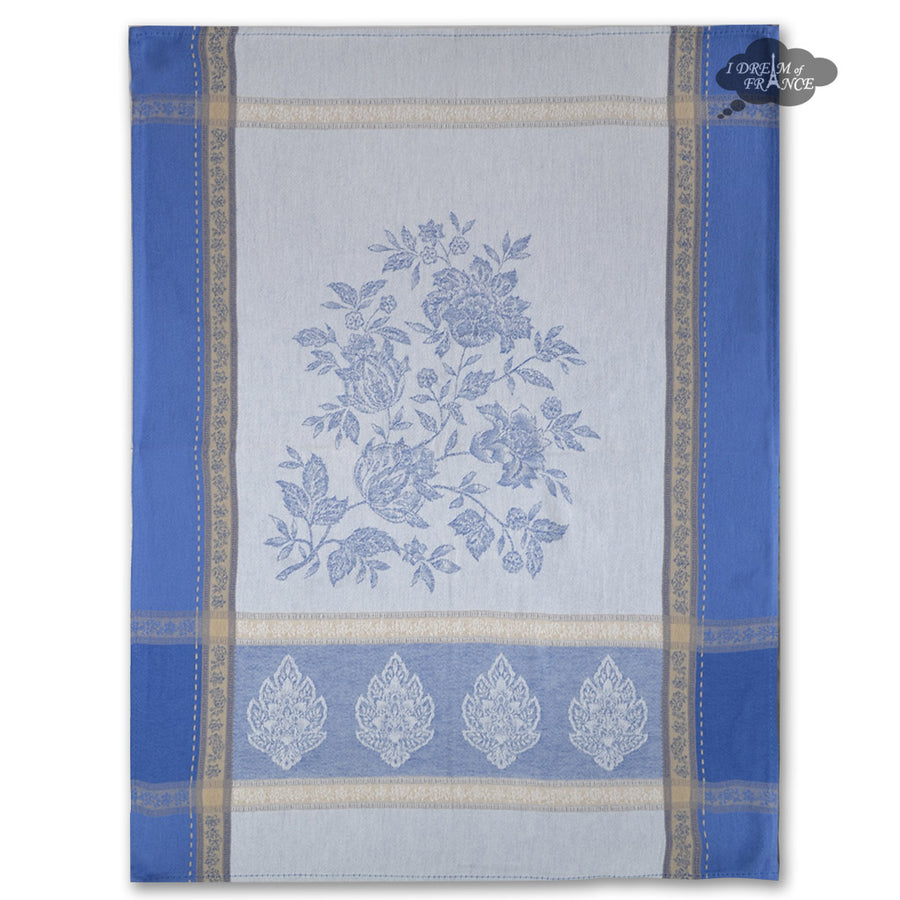 Caprice Blue Cotton Jacquard Dish Towel