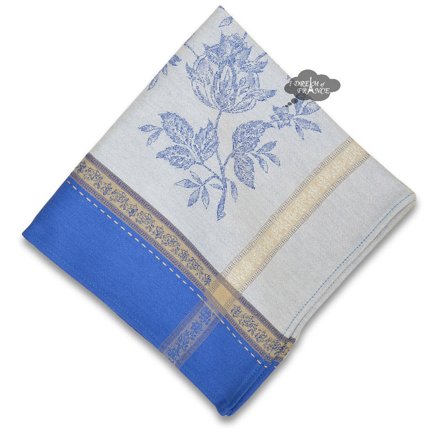 Caprice Blue French Cotton Jacquard Napkin