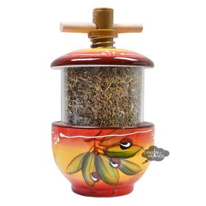 Ceramic Mill with Herbes de Provence - Olives Red