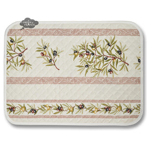Clos des Oliviers Cream Cotton Quilted Placemats