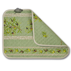 Clos des Oliviers Green Cotton Quilted Placemats