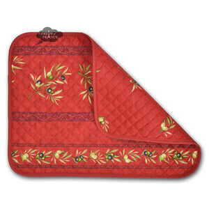 Clos des Oliviers Red Cotton Quilted Placemats