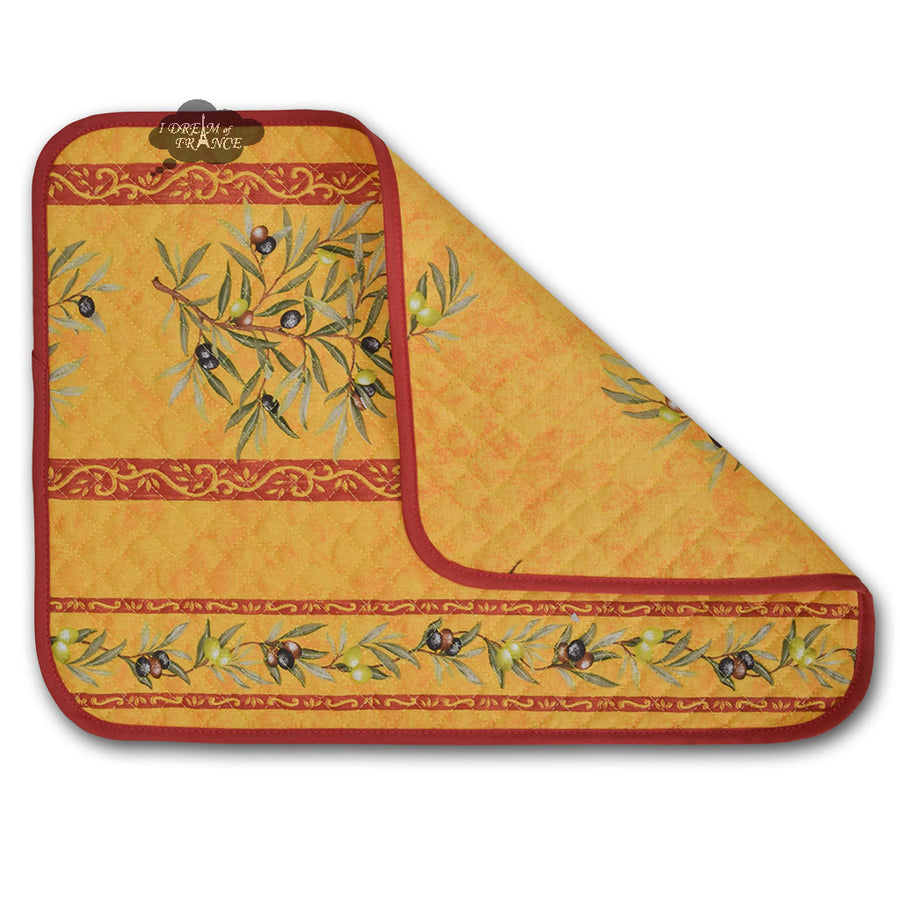Clos des Oliviers Yellow Cotton Quilted Placemats