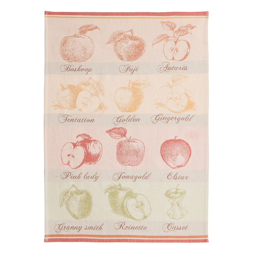 Coucke Quartiers de Pomme (Apple Wedges) French Jacquard Dish Towel