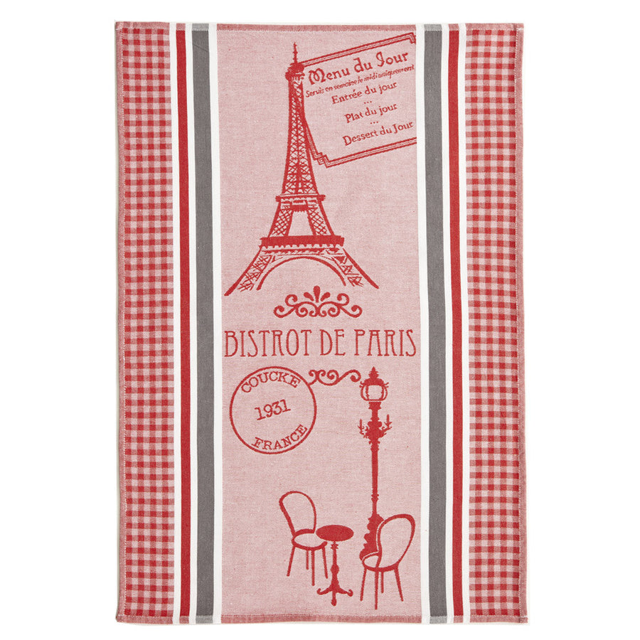 Coucke Bistrot de Paris French Dish Towel - Striped Design