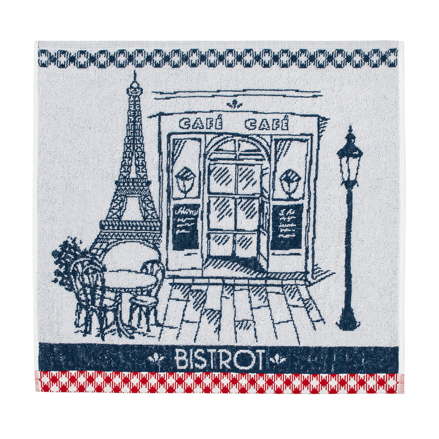 Authentic Bistro (Bistrot Authentique) Terry Square Towel by Coucke