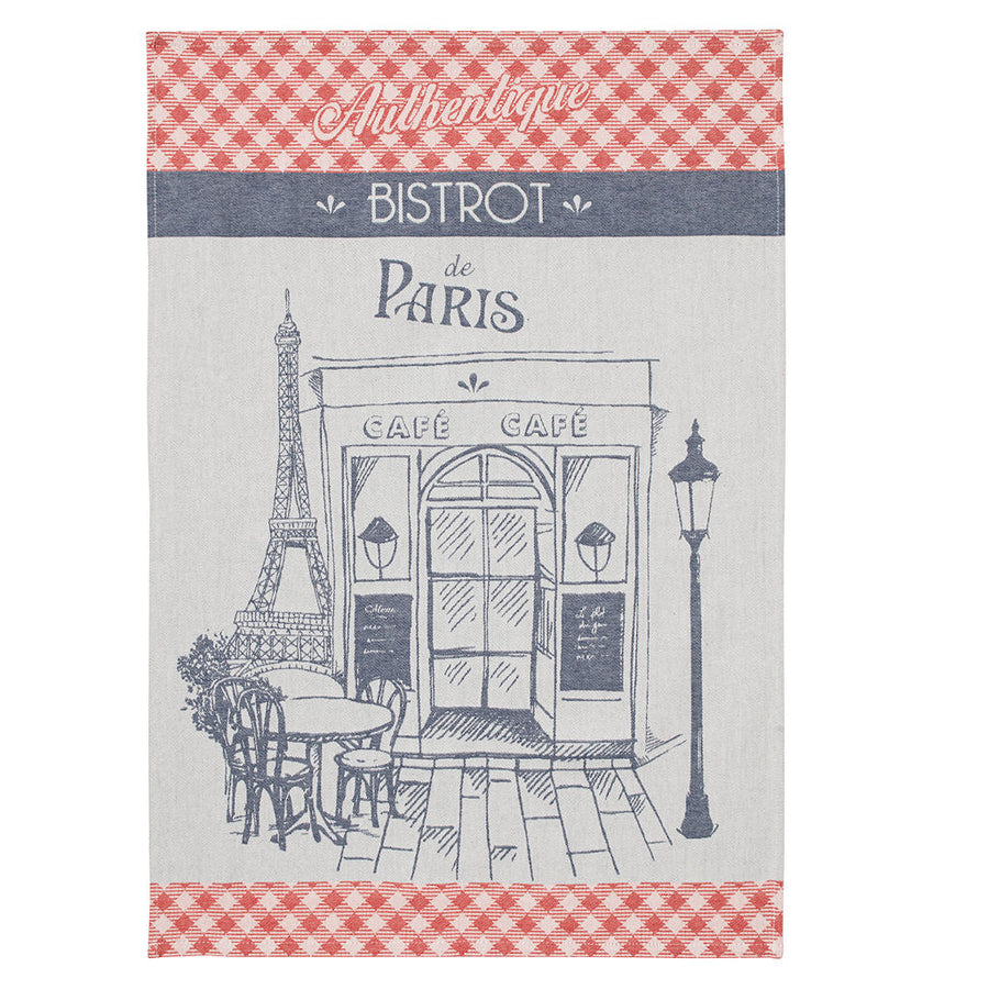Authentic Bistro (Authentique Bistrot) French Jacquard Dish Towel by Coucke