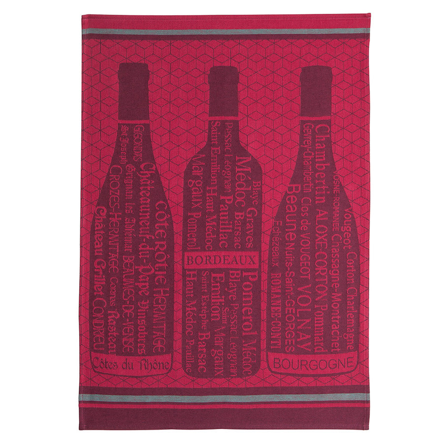 Coucke Wine Bottles French Jacquard Dish Towel