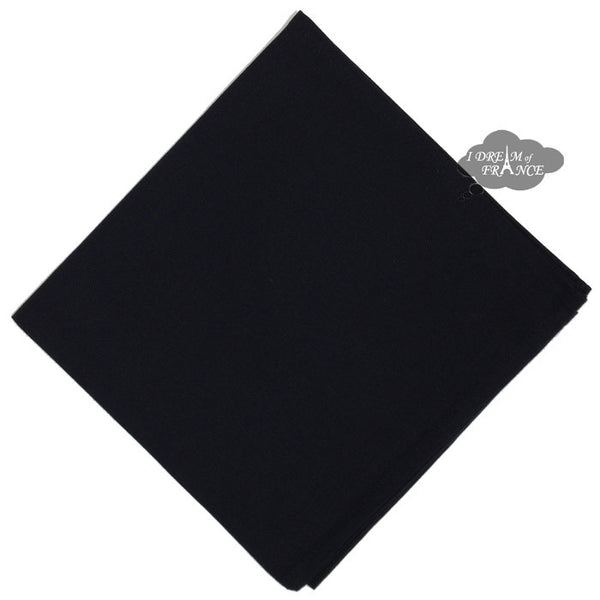 Black Solid Cotton Napkin by Coucke