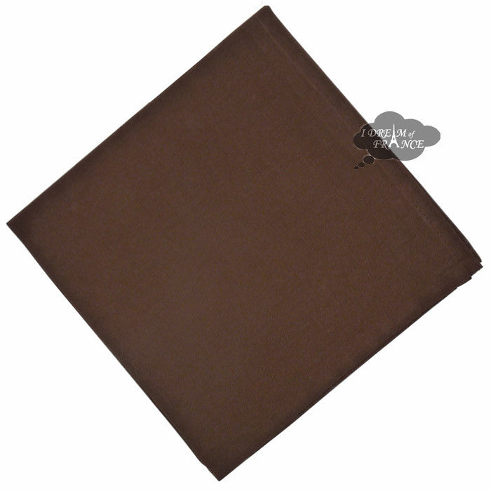 Chocolate Brown Solid Cotton Napkin by Coucke