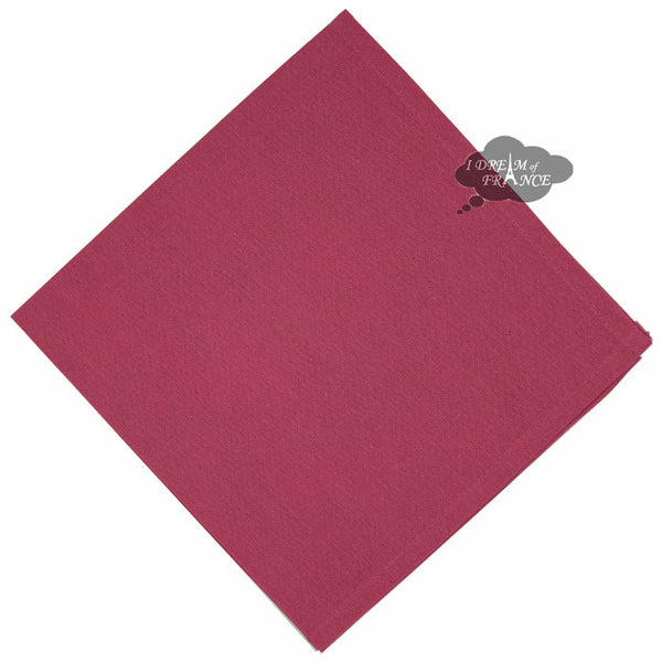 Cherry Rose Solid Cotton Napkin by Coucke