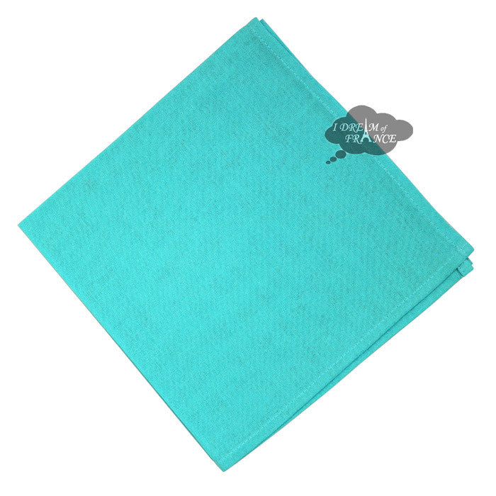 Turquoise Solid Cotton Napkin by Coucke