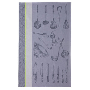 Chef's Utensils (Ustensiles du Chef) French Jacquard Dish Towel by Coucke