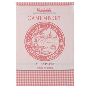 Fromage Camembert Cheese French Jacquard Dish Towel by Coucke
