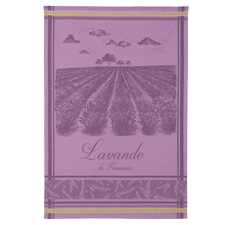 Lavender Fields (Champs de Lavande) French Jacquard Dish Towel by Coucke