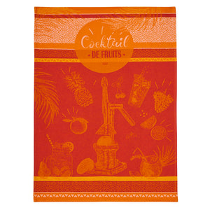 Fruit Cocktail French Jacquard Cotton Dish Towel by Coucke