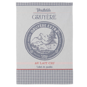 Gruyere Cheese French Jacquard Dish Towel by Coucke