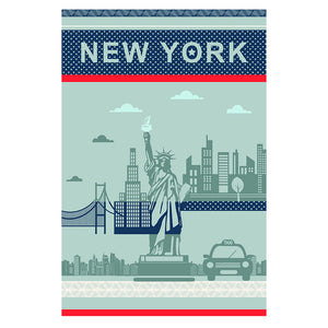 New York City French Jacquard Dish Towel by Coucke
