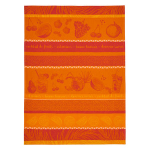 Tutti Frutti French Jacquard Cotton Dish Towel by Coucke