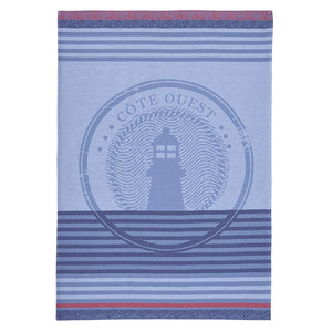 West Coast (Côte Ouest) French Jacquard Cotton Dish Towel by Coucke