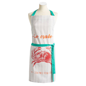 Crab (Crabe) Cotton Kitchen Apron by Coucke