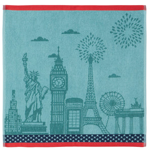 Cities Terry Square Towel by Coucke