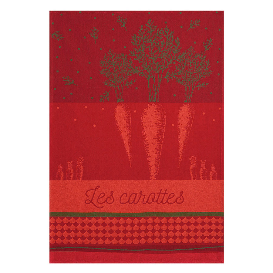 Coucke Carottes du Potager French Jacquard Dish Towel