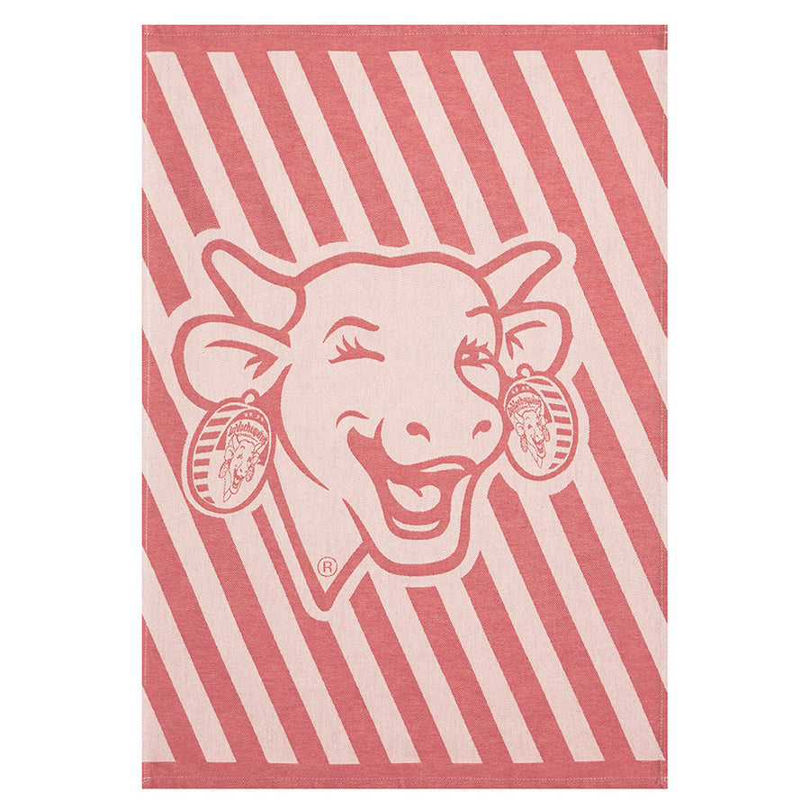 Coucke La Vache qui Rit Red French Jacquard Dish Towel