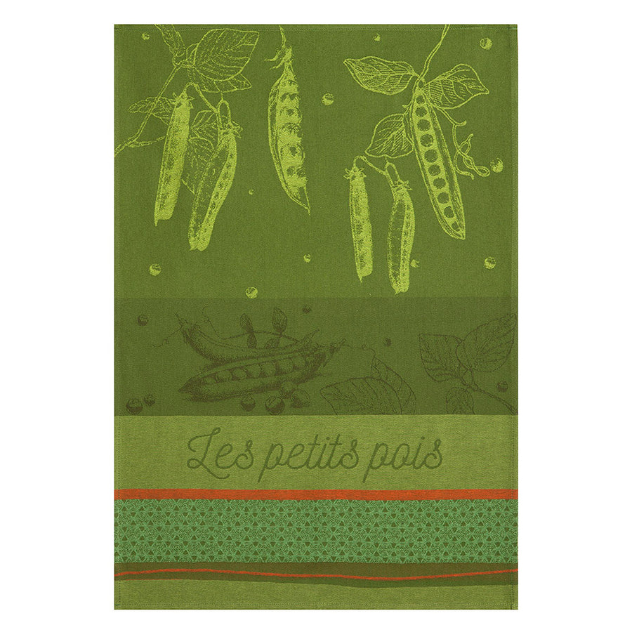Coucke Petits Pois du Potager French Jacquard Dish Towel