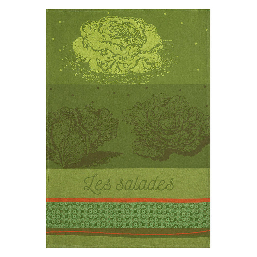 Coucke Salades du Potager French Jacquard Dish Towel