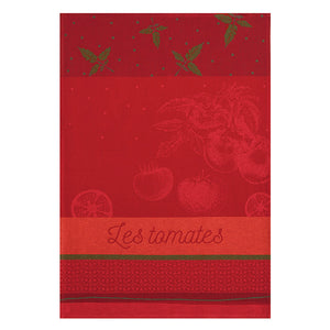 Coucke Tomates du Potager French Jacquard Dish Towel