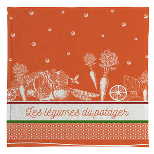 Coucke Terry Square Towel - Legumes du Potager