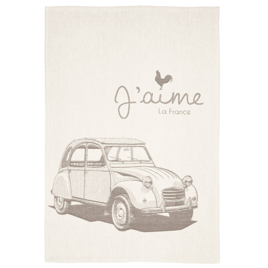 Coucke En Voiture (By Car) French Jacquard Dish Towel