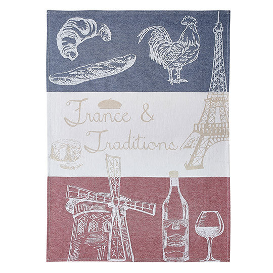 Coucke France and Traditions French Dish Towel - Big Design