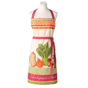 Winter Vegetables (Legumes d'Hiver) Cotton Kitchen Apron by Coucke