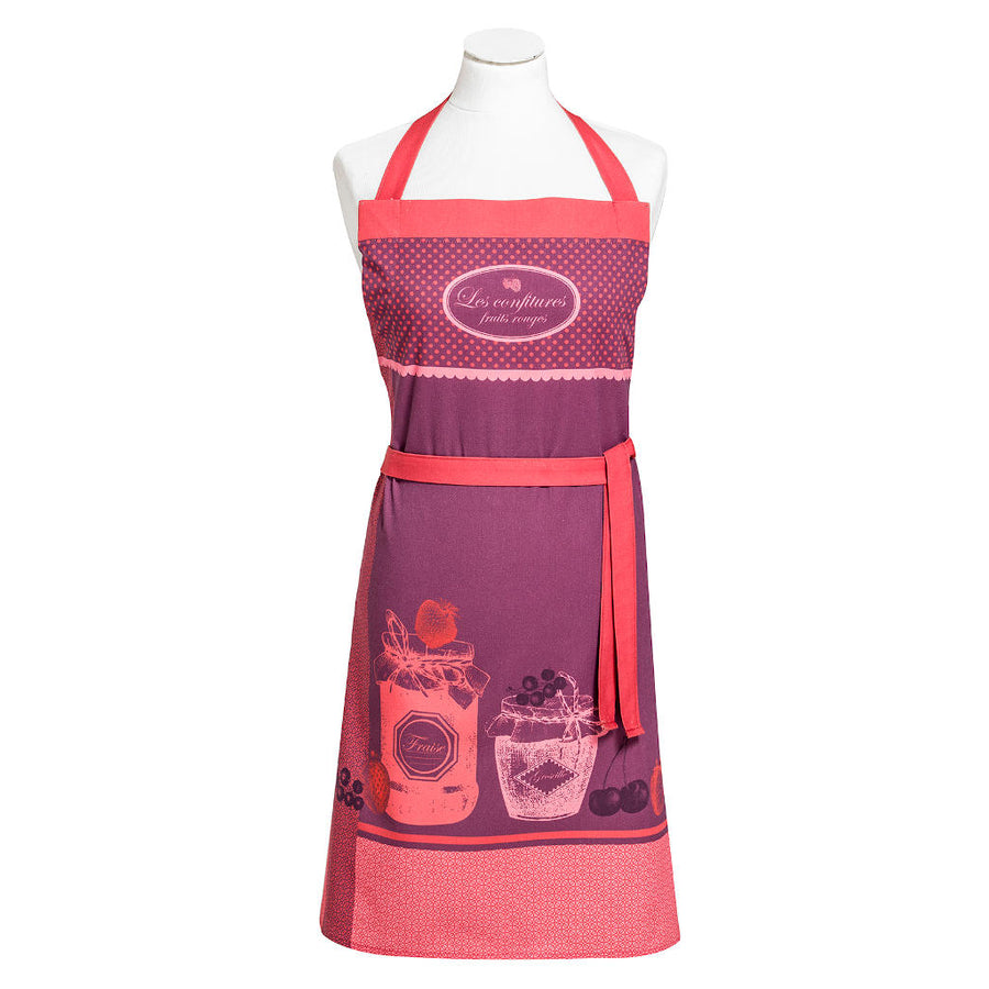 Red Fruit Jam (Confiture Fruits Rouges) Cotton Kitchen Apron by Coucke