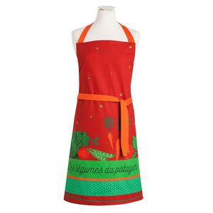 Vegetables of the Garden (Legumes du Potager) Cotton Kitchen Apron by Coucke
