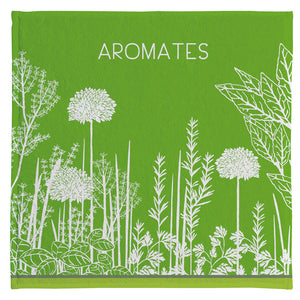 Coucke Terry Square Towel - Aromates du Jardin (Herbs of the Garden)